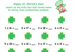 4th grade st patrick u0027s day worksheets u0026 free printables