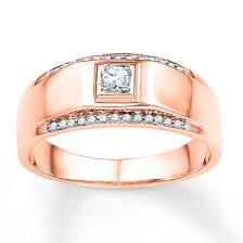 Gold Wedding Rings For Men by Kay Men U0027s Wedding Band 1 6 Ct Tw Diamonds 10k Rose Gold