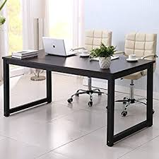 Large Black Computer Desk Writing Desk 63in Large Study Computer Table
