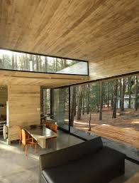 Glass Wall House by Amazing Modern Wooden House In The Woods Love The Glass Wall