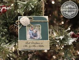 personalized ornaments wedding best 25 christmas married ideas on our