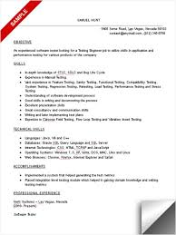 Sle Resume For Mechanical Engineer Test Engineer Resume Templates Franklinfire Co