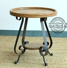 Wrought Iron Patio Side Table Side Table French Foreign Trade Do The Old Vintage Mosaic Flower