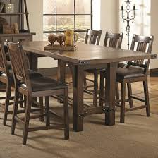 dining room tables with extension leaves buy padima rustic rough sawn counter height table with extension