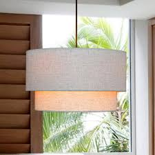 high quality double cloth white shade brief style modern lighting