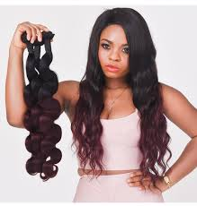 Where To Buy Wholesale Hair Extensions by Ombre Brazilian Body Wave Bundles Non Remy Human Hair Extensions