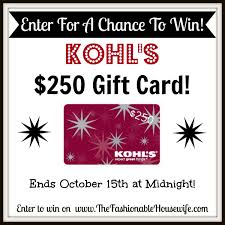how to win gift cards kohl s yes2you rewards program and 250 kohl s gift card giveaway