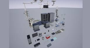 3d model hospital operating room pack cgtrader