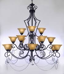 f84 451 15 gallery wrought without crystal wrought iron chandelier