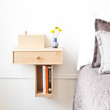 very small diy custom modern floating bedside nightstand table