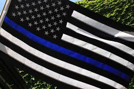 Thin Blue Line Flag Blue Line Flag Police Officer Support 3x5 Foot With Embroidered