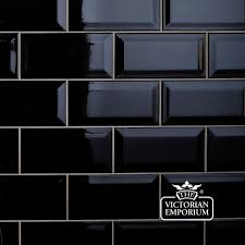 bevel wall tiles 100x200mm black for my fireplace makeover