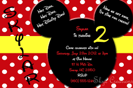 Mickey Mouse Invitation Card Personalized Mickey Mouse Invitations Afoodaffair Me