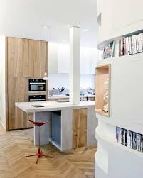 brown varnish wood full area floor small galley kitchen design