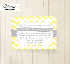 Baby Shower Instead Of A Card Bring A Book Bring A Book Instead Of A Card Bring A Book Card Printable Chevron