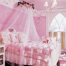 Pink Canopy Bed Outdoor Bed With Canopy Pillows And Trees White Curtains Pink