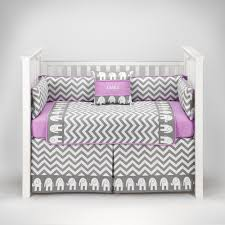 Bright Pink Crib Bedding by Amazon Com Elephant Chevron Zig Zag Gray U0026 Lilac Baby Bedding