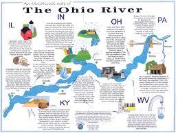 ohio river valley map the ohio river