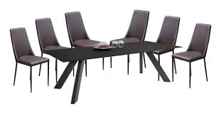 diamond sofa furniture matrix 7 piece dining set by dining rooms
