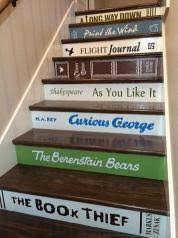 dress up stair risers with vinyl decals this old house