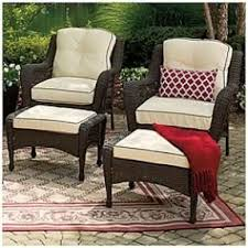 Wilson And Fisher Wicker Patio Furniture Resin Wicker Ottoman Foter