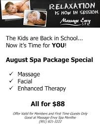 august spa package special from massage envy menifee 24 7