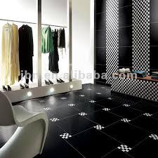 24x24 high gloss supe black homogeneous polished porcelain floor