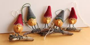 the cutest ornaments almond shell birds makes