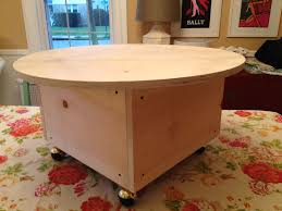 coffee table diy round ottoman coffee table addicts ma make