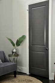 White Walls Grey Trim by 3 Dark Gray Painted Interior Doors Black Fox Sherwin Williams
