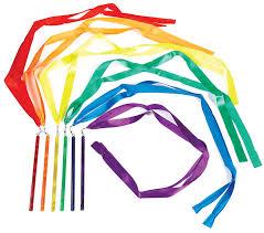 ribbon wands rainbow rhythm ribbon wands set gopher sport