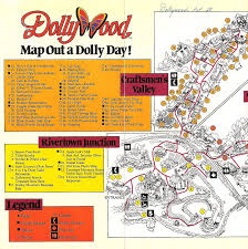 Tennessee Mountains Map by Dollywood 1992 Theme Park Maps Pinterest Theme Park Map