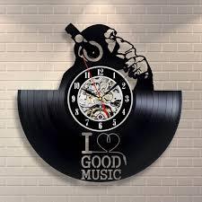 i love good music vinyl record wall clock unique design u2013 lampsillu