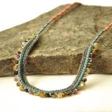 crochet necklace images Tourmaline crochet silk and silver necklace izabela motyl jpeg