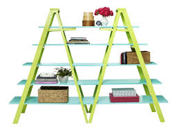 how to create a double ladder shelf hgtv