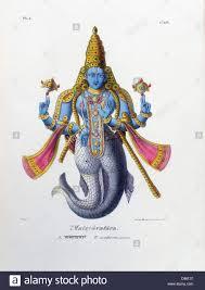 hindu l vishnu one of the gods of the hindu trimurti in his