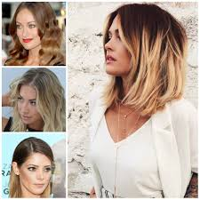 thin hair with ombre hairstyle for medium hair shoulder length ombre hairstyles women