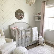 Grey Accent Wall by Sweet Baby Nursery Color Pallets Rustic Style And Pink Grey