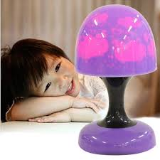 led mini touch table mushroom bedside lamp night light for kids