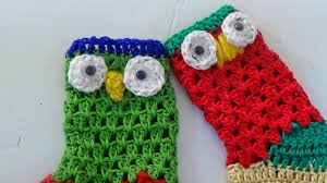 the crochet world crochet owl christmas stocking