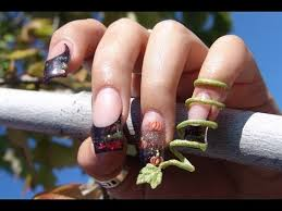 thanksgiving autumn acrylic nails