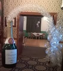 our amazing champagne bottle with champagne balloon bubbles forms