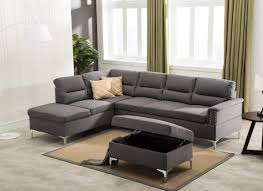 gray sectional with ottoman larry gray sectional ottoman set