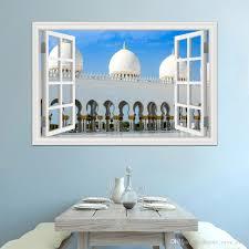 3d wallpaper wall mural stickers masjid islam muslim wall stickers