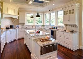 White Cabinets Granite Countertops Kitchen Polar Granite Countertops Traditional Kitchen Duron
