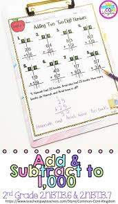Second Grade Math Practice Worksheets 85 Best Addition And Subtraction Images On Pinterest Second