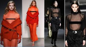 bare breast bare at fashion shows 2018 s trend