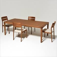 fs18 teak dining table with 1 leaf extension scan design