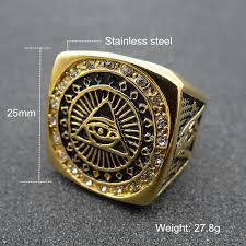 large metal rings images Milatu large heavy eyes of evil rings stainless steel masonic ring jpg