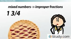how to change mixed numbers to improper fractions video u0026 lesson